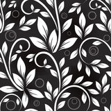 Seamless monochrome pattern. Stock Images