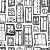 Seamless monochrome pattern of a variety of Stock Photos