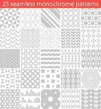 25 seamless monochrome pattern. Vector seamless pattern. Endless texture can be used for printing onto fabric, paper or scrap booking, wallpaper, pattern fills Royalty Free Stock Photo