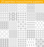 25 seamless monochrome pattern. Vector seamless pattern. Royalty Free Stock Images