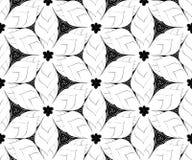 Seamless monochrome pattern 5 Stock Photo