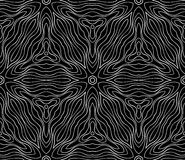 Seamless monochrome pattern 12. Seamless monochrome pattern for your design Stock Photography