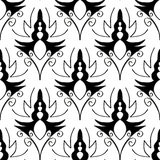 Seamless monochrome pattern 11 Royalty Free Stock Photos