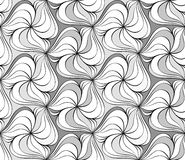 Seamless monochrome pattern 15 Stock Image
