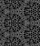 Seamless monochrome pattern 14 Stock Photos