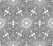 Seamless monochrome pattern 17 Royalty Free Stock Photography
