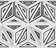 Seamless monochrome pattern 3 Stock Image