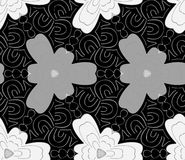 Seamless monochrome pattern 2 Royalty Free Stock Images