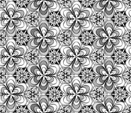 Seamless monochrome pattern Royalty Free Stock Image