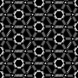 Seamless Monochrome Pattern With Zigzags Royalty Free Stock Photo