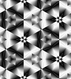 Seamless Monochrome Polygonal Geometrical Pattern Gently Glowing from Light to Dark Tones create the illusion of depth and volume. Royalty Free Stock Image