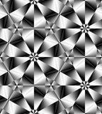 Seamless Monochrome Polygonal Geometrical Pattern Gently Glowing from Light to Dark Tones create the illusion of depth and volume. Stock Photo