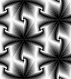 Seamless Monochrome Polygonal Geometrical Pattern Gently Shimmering from Light to Dark create the illusion of depth and volume Stock Image