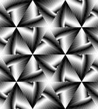 Seamless Monochrome Polygonal Geometrical Pattern Gently Shimmering from Light to Dark Tones  create the illusion of depth Stock Photography