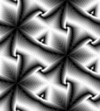 Seamless Monochrome Polygonal Geometrical Pattern Gently Shimmering from Light to Dark Tones and Decreasing Toward the Center Stock Photos