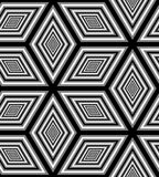 Seamless Monochrome Rhombus Pattern. Geometric Polygonal Abstract Background. Suitable for textile, fabric, packaging and web design. Vector Illustration Vector Illustration