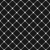 Seamless monochrome rounded square grid pattern background - graphic design from diagonal squares Royalty Free Stock Image