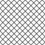 Seamless monochrome rounded square grid pattern background - graphic design from diagonal squares stock illustration