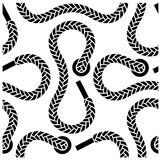 Seamless monochrome shoelace pattern Royalty Free Stock Photos