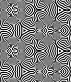 Seamless Monochrome Spirals Pattern. Geometric Abstract Background. Royalty Free Stock Photography