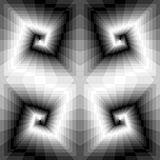 Seamless Monochrome Spirals of the Rectangles. Optical Illusion of Perspective and Volume. Suitable for Web Design. Royalty Free Stock Photography