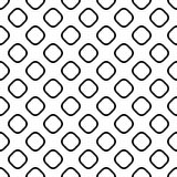 Seamless monochrome square pattern - halftone vector background graphic design from diagonal rounded squares Royalty Free Stock Image