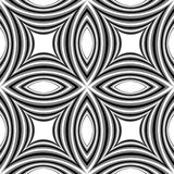 Seamless Monochrome Striped Pattern of Concave  Royalty Free Stock Photo