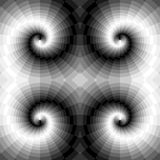 Seamless Monochrome Swirls of the Rectangles. Optical Illusion of Perspective and Volume. Suitable for Web Design Stock Image