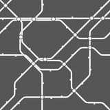 Seamless monochrome transportation scheme pattern Royalty Free Stock Photo