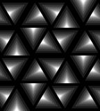Seamless Monochrome Triangle Pattern Gently Shimmering from  light to dark. Visual Volume Effect. Polygonal Geometric Abstract Background. Suitable for Stock Photo