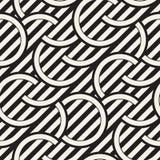 Seamless monochrome waving pattern. Abstract stripy background. Vector irregular round stripes design. Seamless monochrome waving pattern. Abstract retro stripy Royalty Free Stock Photos