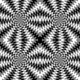 Seamless Monochrome  Wavy Lines. The Visual Illusion Of Movement.  Suitable for textile, fabric, packaging and web design. Stock Photography