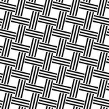 Seamless monochrome woven line pattern Royalty Free Stock Photography
