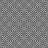 Seamless monochrome zig zag grid pattern Stock Images