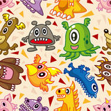 Seamless monster pattern Royalty Free Stock Image