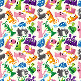 Seamless monster pattern. Vector drawing Stock Photos
