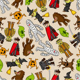 Seamless monster pattern Stock Photography