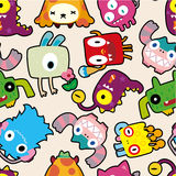 Seamless monster pattern. Drawing Stock Photos