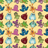 Seamless monster pattern. Drawing Royalty Free Stock Images