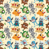 Seamless monster pattern. Drawing Royalty Free Stock Image