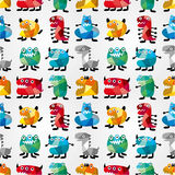 Seamless monster pattern. Vector,illustration Royalty Free Stock Images