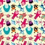 Seamless monster pattern.  Stock Photo