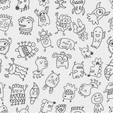 Seamless monster pattern Royalty Free Stock Photo