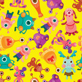Seamless monster pattern Stock Images