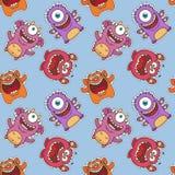 Seamless Monster Pattern Royalty Free Stock Photo
