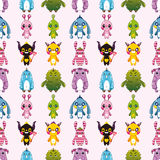 Seamless monster pattern Royalty Free Stock Image