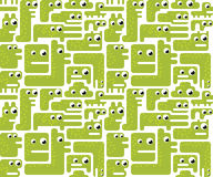 Seamless monster pattern Stock Image
