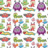 Seamless monsters Stock Image