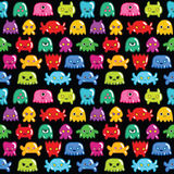 Seamless monsters pattern Royalty Free Stock Images