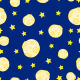 Seamless moon pattern. Royalty Free Stock Image